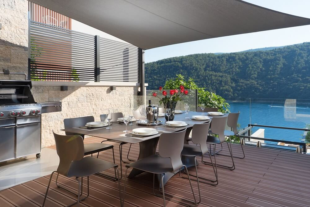 Villa Vlastelini II - outdoor kitchen and terrace