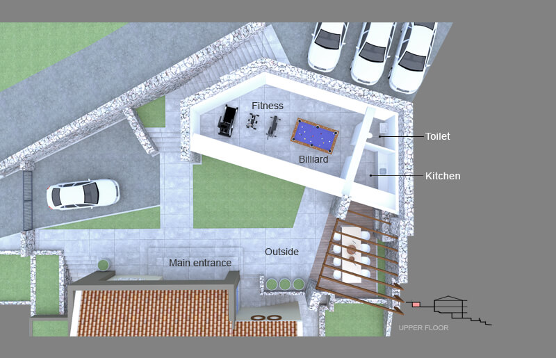 Villa Vlastelini II ground plan - fitness