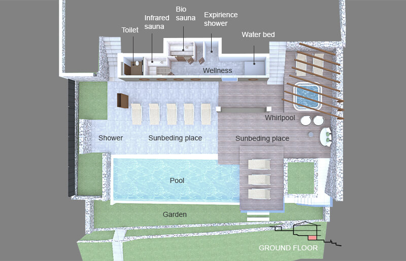 Villa Vlastelini II ground plan - wellness