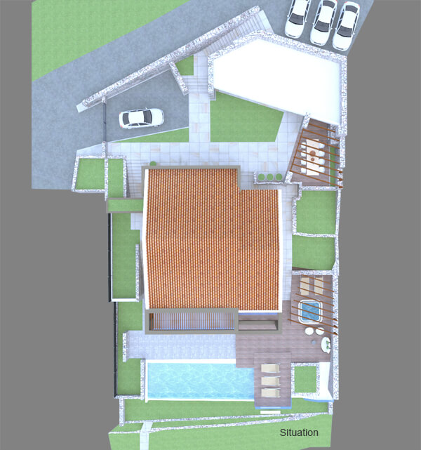Villa Vlastelini II ground plan - top